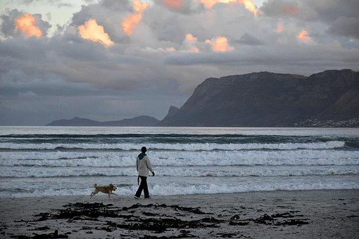 Muizenberg, Cape Town, Sunrise Beach, Beach, Ocean