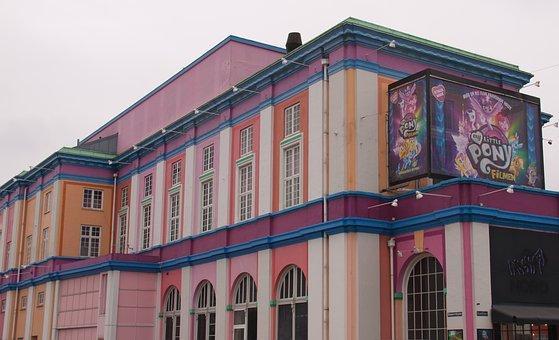 Cinema, Colorful, Façade, Windows