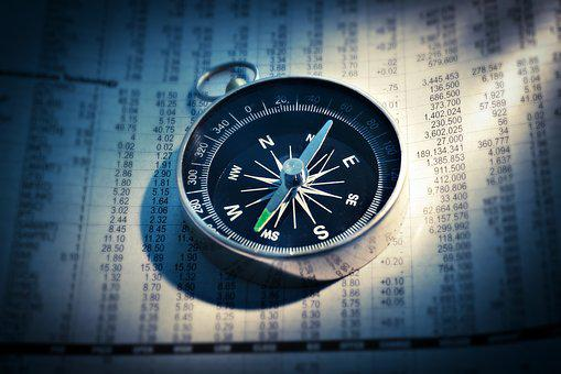 Compass, Newspaper, Finance, Direction, Business