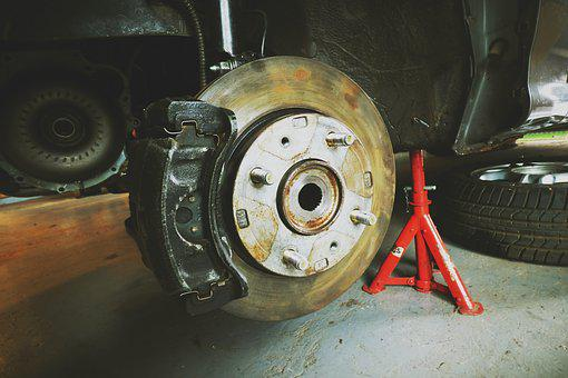 Brake, Disk, Disc Brake, Mechanical, Workshop, Auto