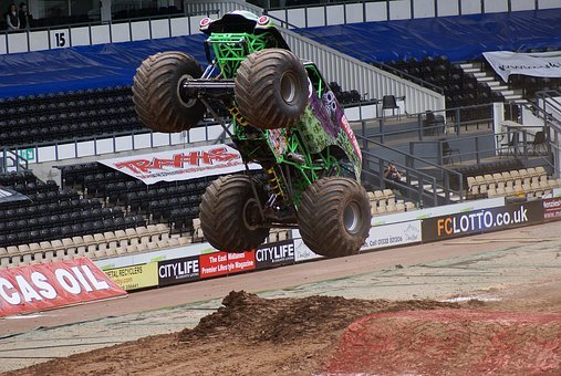 Monster Truck, Jump, Extreme, Sports, Automobile, Cool