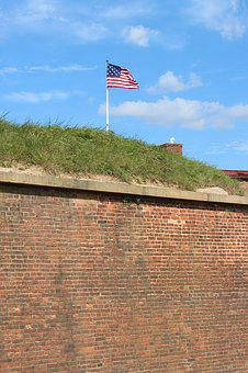 Mchenry, Fort, 1812, Flag, Baltimore, Maryland, Blue