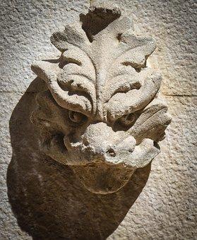 Gargoyle, Stone, Face, Architecture, Old, Gothic