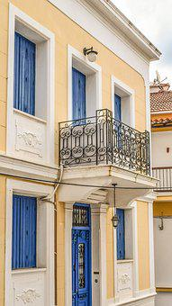 Greece, Skopelos, Chora, Village, House, Balcony