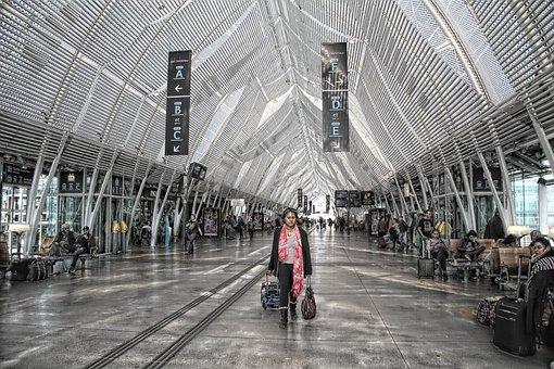 Station, Transport, Travel, France, Terminal, Tgv, Hall