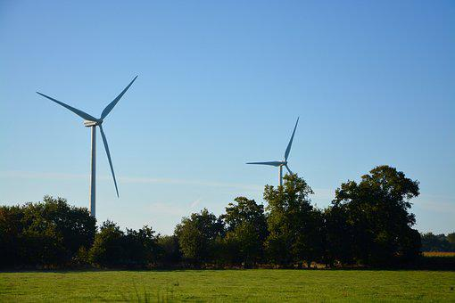Wind Turbine, Landscape, Nature, Renewable Energy