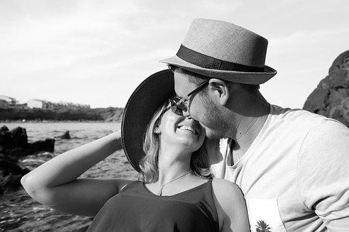 Love, Couple, Romantic, Young Couple, In Love, Hat