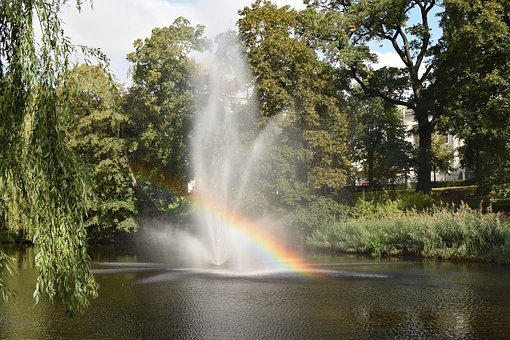 Fountain, Channel, Water, Travel, Tourism, Summer, Park