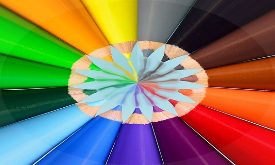 Crayons, Abstract, Color, Pattern
