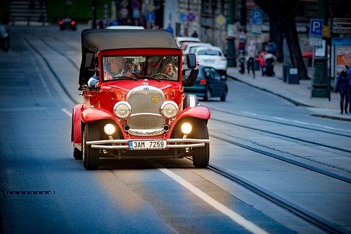 Auto, Oldtimer, Automotive, Spotlight, Old Car, Red