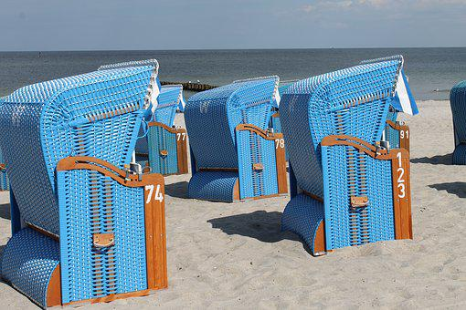 Beach, Beach Chair, Holiday, Baltic Sea, Sea, Clubs