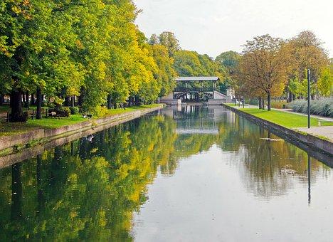 Lille, Deûle, Pont Napoleon, Fall, Solitude, Channel