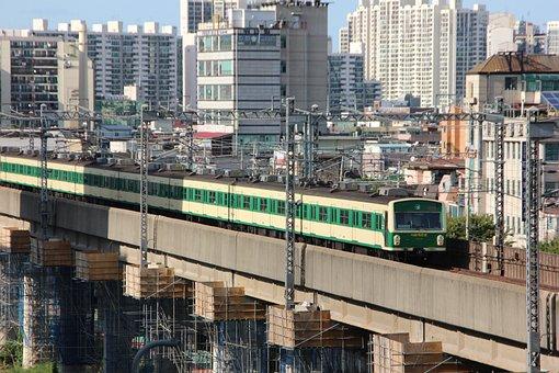 Train, Subway, Republic Of Korea, South Korea Subway