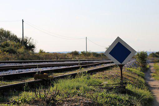Railway Sign, Rail, Track, Transportation, Road, Travel