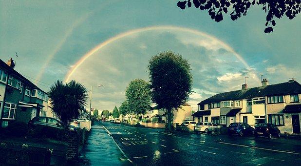 Rainbow, Weather, Wet, Sky, Rain