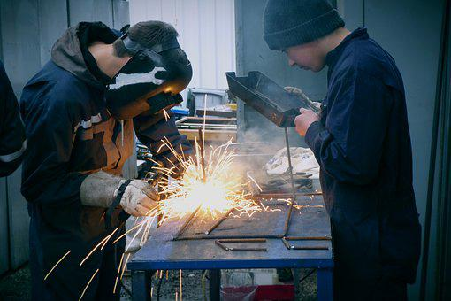 Welder, Welding, Mask, Gloves, Workshop, Protection
