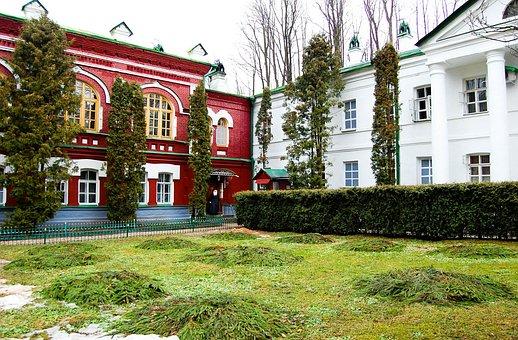 Pskov-caves Monastery, Arch, Assumption, Beautiful