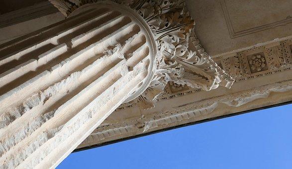 Corinthian, Column, Maison Caree, Nimes, Roman, Ancient