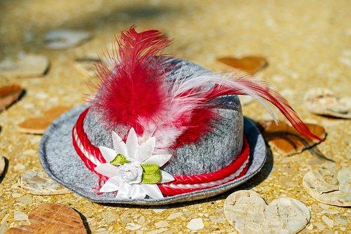 Hat, Trachtenhut, Costume, Bavarian, Romance