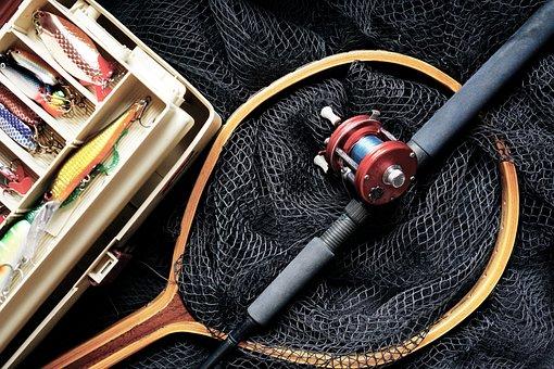 Fishing, Fishing Rod, Fishing Lures, Fishing Box, Rod