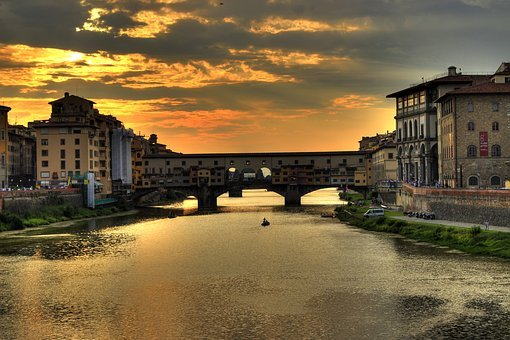 Florence, Italy, Old Bridge, Bridge, Architecture
