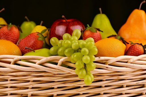 Fruits, Fresh, Basket, Fresh Fruits, Assorted