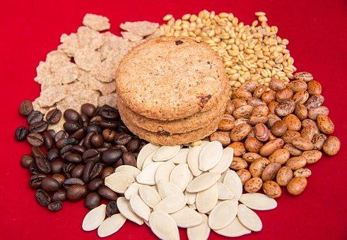 Food, Beans, Sunflower Seeds, Grain, Flakes
