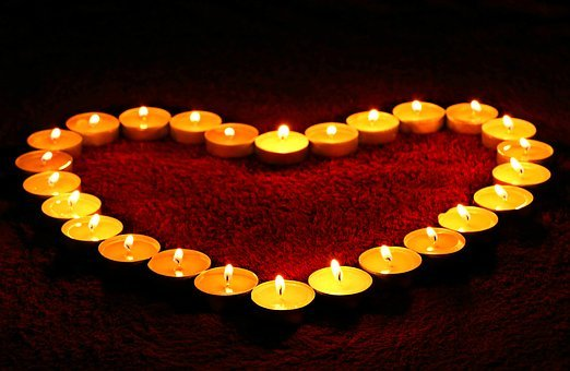 Candles, Heart, Flame, Love, Valentine, Romance, Fire
