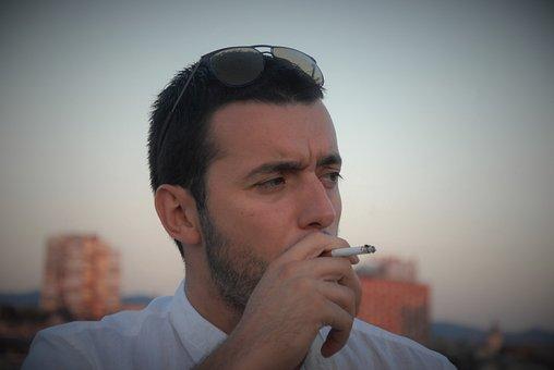 Man, Cigarette, Smoke, Male, Addiction, Person, Young