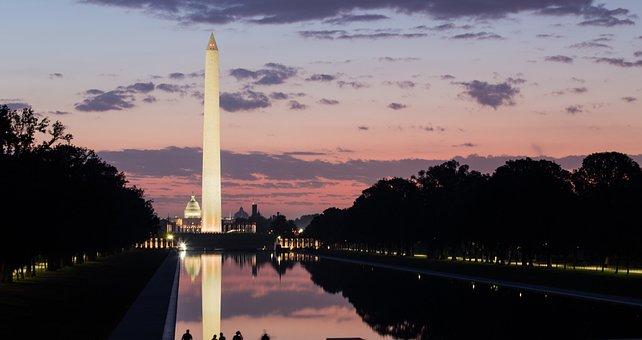 Washington Monument, Morning Sunrise, Washington Dc