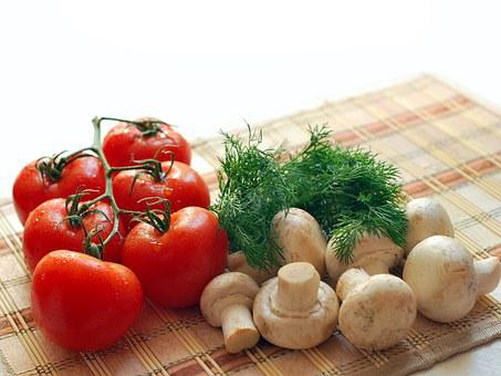 Mushrooms, Tomatoes, Greens, Nutrition, Tasty, Dinner