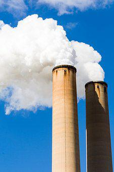 Pollution, Smokestack, Industrial, Factory, Plant