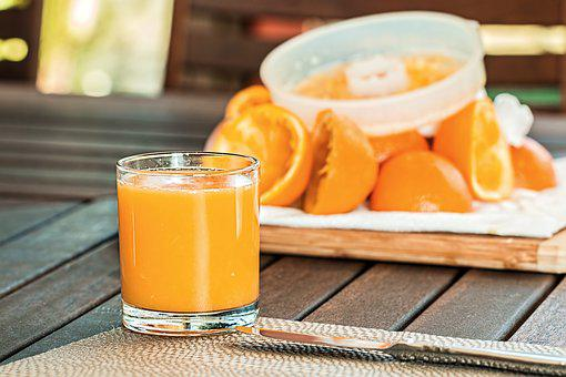 Fresh Orange Juice, Squeezed, Refreshing, Citrus, Drink