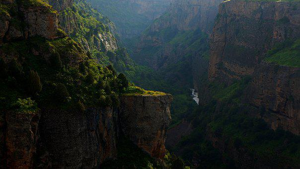 River, Canyon, Rocks, Rock, Nature, Evening, Landscape