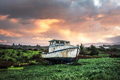 Fishing Boat, Ship, Boot, Fishing, Port, Sea, Mood