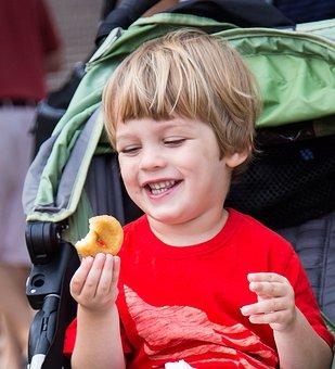 Boy, Smile, Donut, Joy, Food, Happy, Happiness, Kid