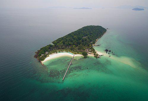 The Island, Thailand, The Coast, Aerial, Sunlight