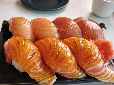 Sushi, Salmon, Food, Japan, Care, Raw Fish