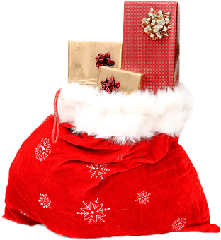 Isolated, Christmas Sack, Celebrate, Sweet, Gifts