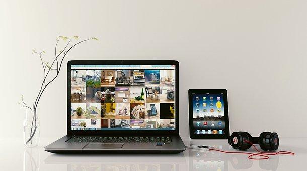 Laptop, Tab, Headphone, Workstation, Browsing, Tablet