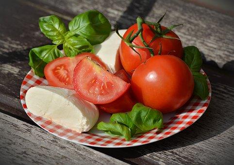 Tomatoes, Tomato Mozzarella, Basil, Mozzarella
