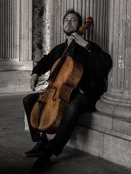 Musician, Louvre, Paris, Architecture, Music