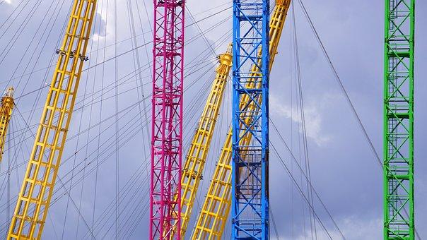 London, 02, Arena, Building, East, England, Modern, Sky