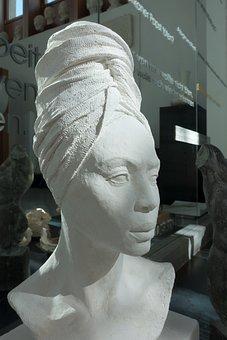 Bust, Gypsum, Model, Art, Sculpture, Sculptor