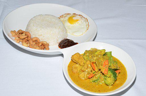 Curry, Malay, Rise, Asian, Food, Plate, Restaurant