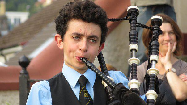 Bagpipes, Scotland, Young People, Music