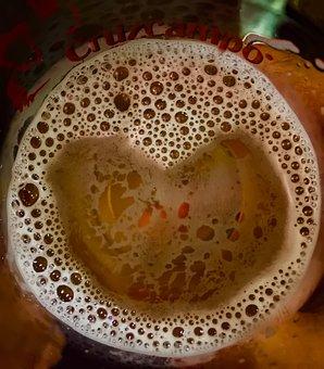 Beer With Love, Foam, Beer, Heart, Fresh, Drink