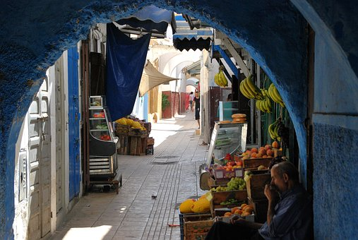 Morocco, Orient, Dealer, Rabat, Alley, Business, Market
