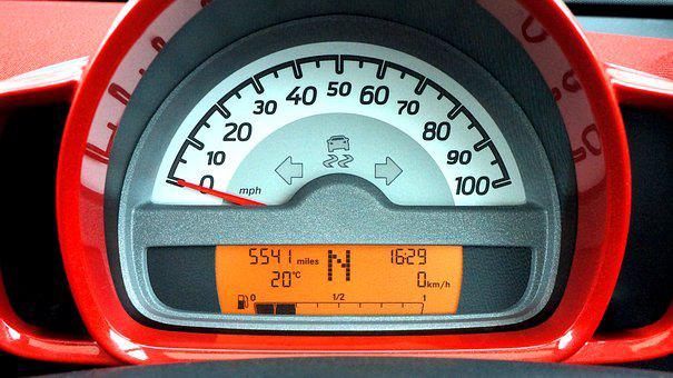 Car, Speedometer, Dashboard, Automobile, Transportation