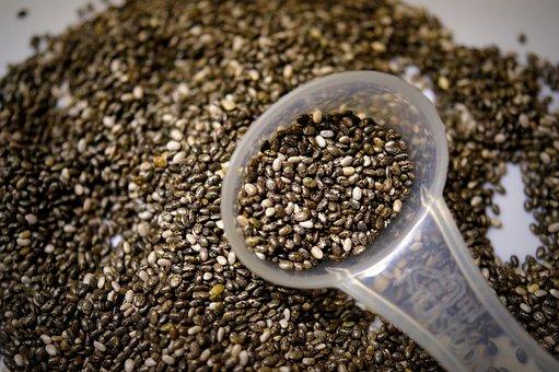Chia, Chia Seeds, Food, Nutrition, Spoon, Seeds